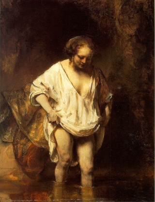 Rembrandt_Hendrickje_Bathing_in_a_River